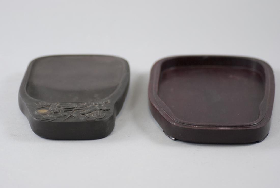 Chinese Carved Ink Stone in Fitted Wooden Case