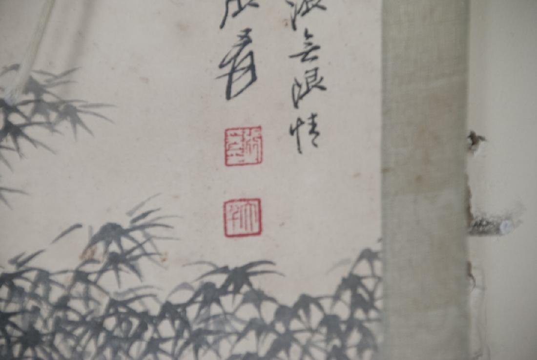 Pair of Chinese Hand Painted & Signed Scrolls - 3
