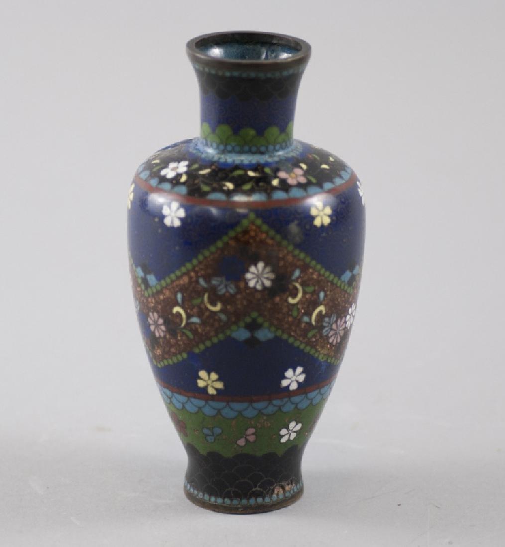 Antique Chinese Cloisonne Enamel Balustrade Vase