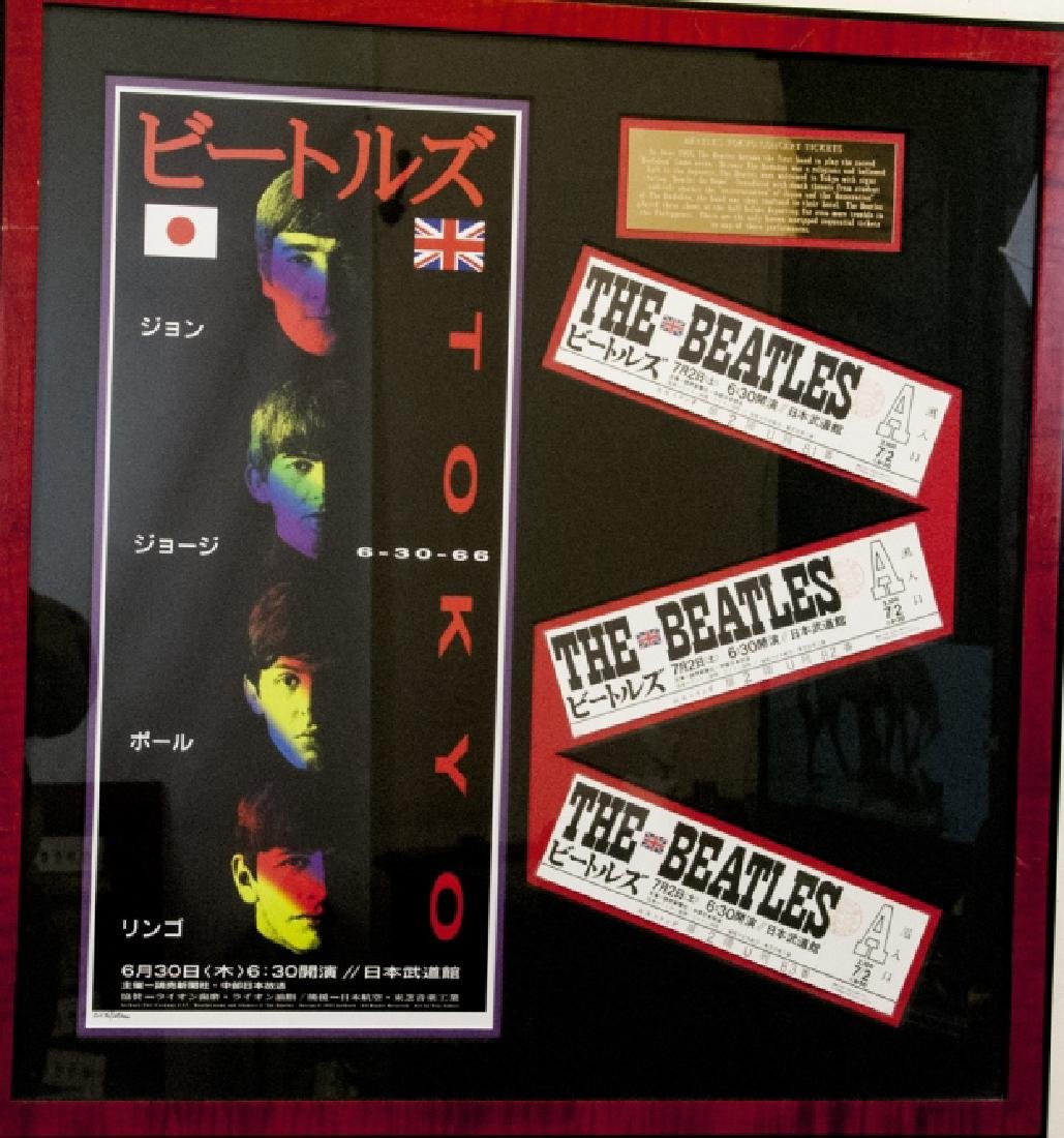 The Beatles Framed Set of Tokyo Concert Tickets