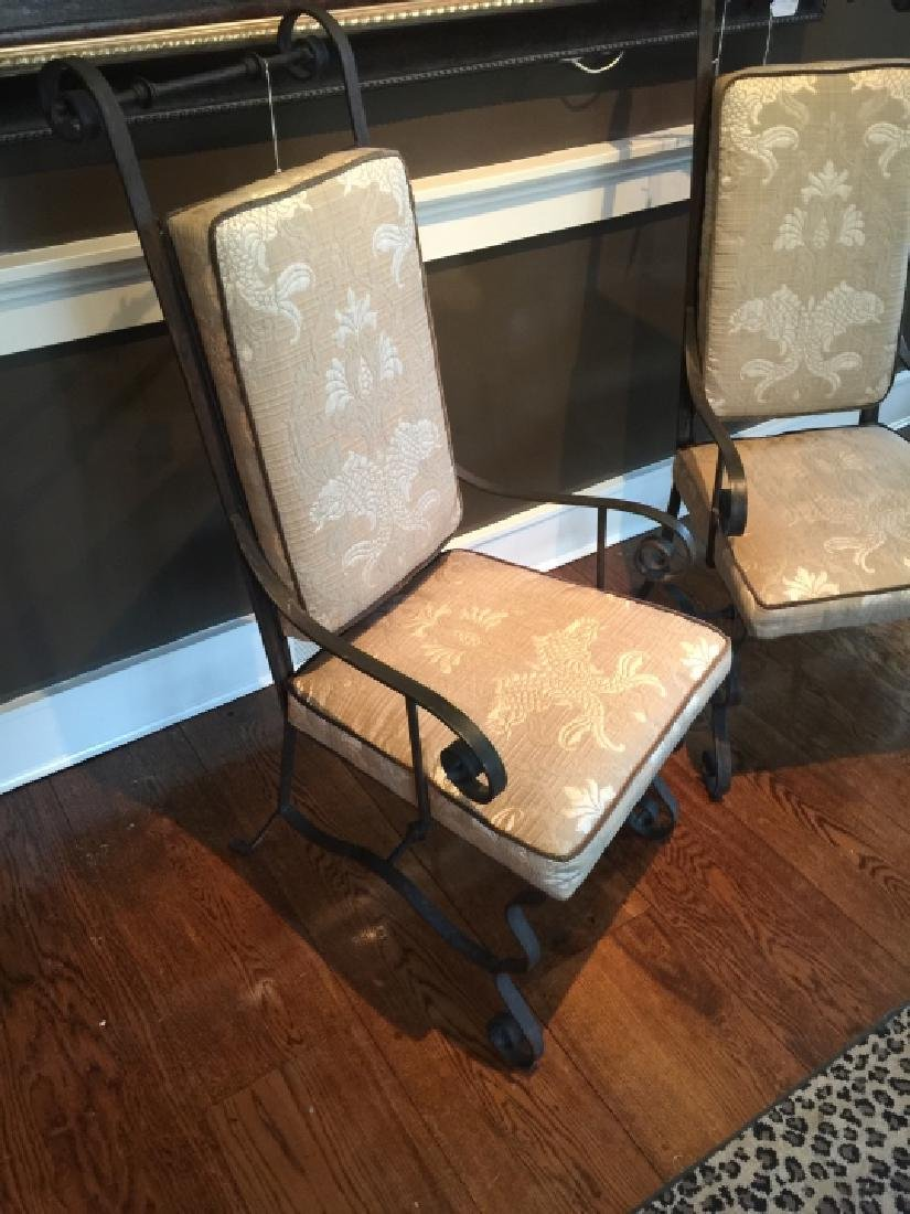 Pair Wrought Iron Spanish Revival Armchairs - 2