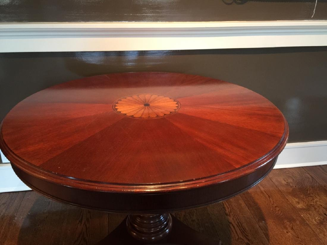 Contemporary Traditional Inlaid Pedestal Table - 5