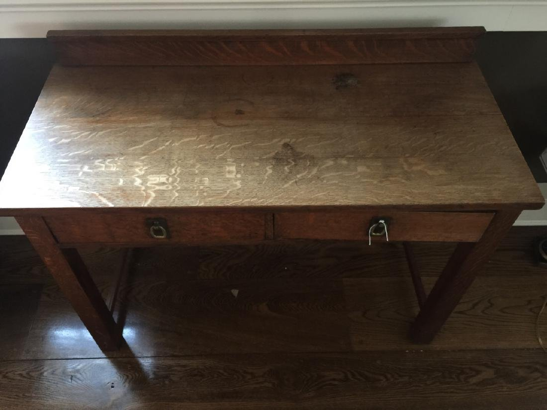 Antique Oak / Mission Style Console or Sideboard - 2