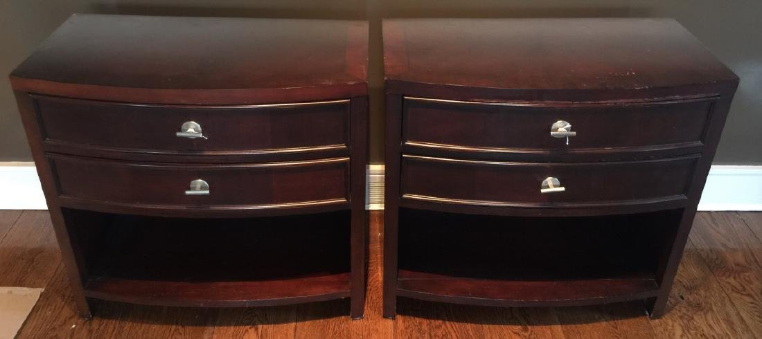 Pair of Contemporary Nightstands or End Tables