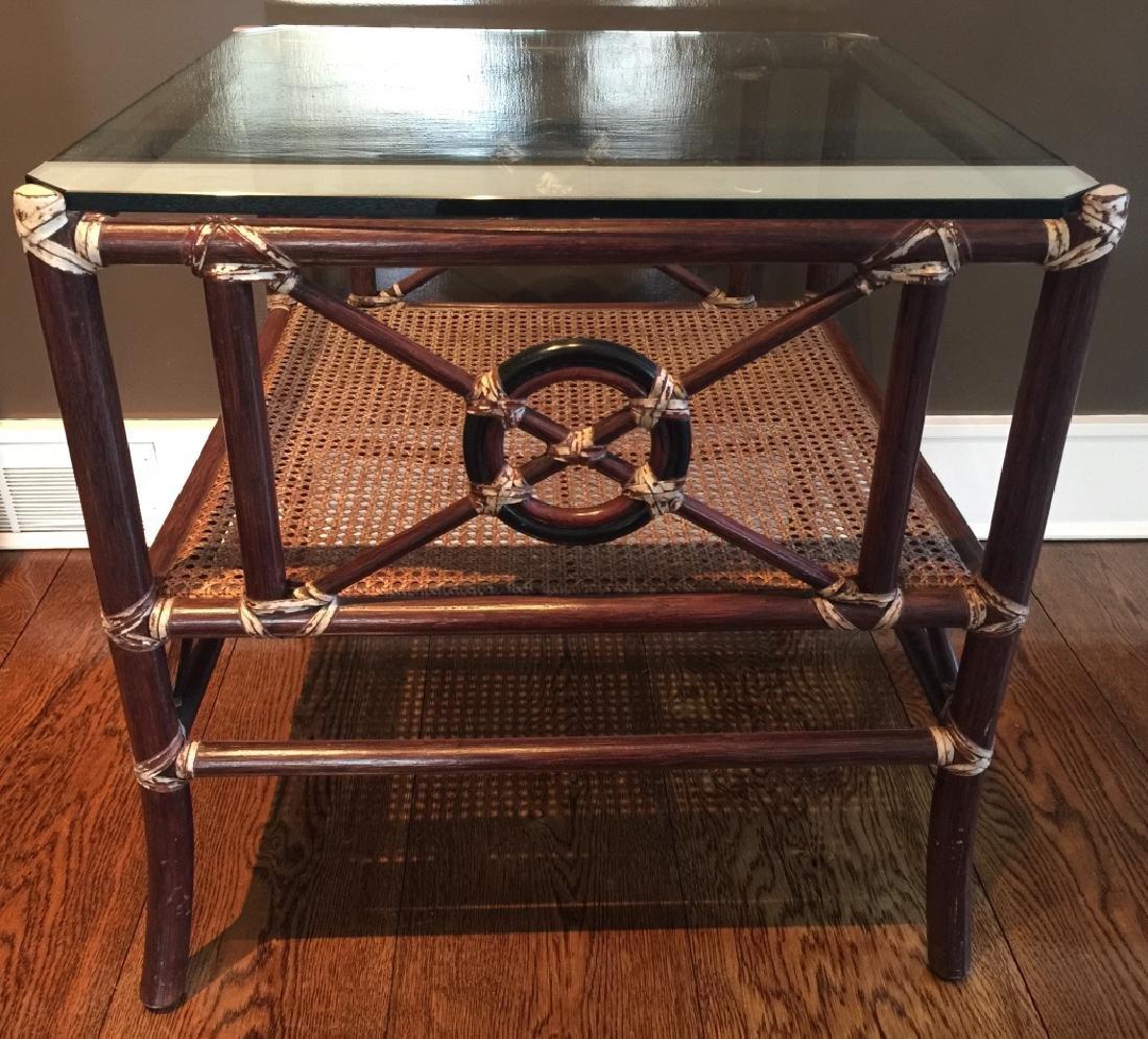 Contemporary Bamboo & Rattan Coffee Table