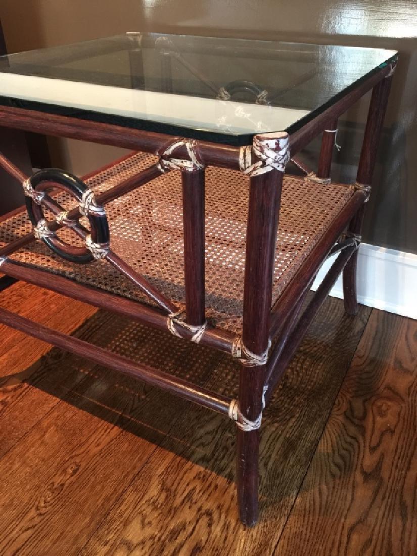 Contemporary Bamboo & Rattan Coffee Table - 3