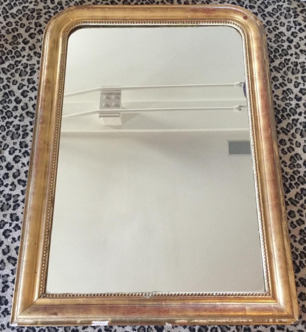 Antique 19th C Louis Philippe Wall Mirror