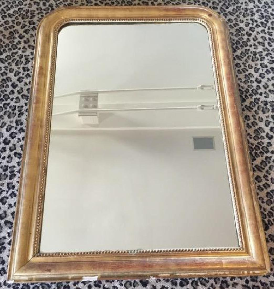 Antique 19th C Louis Philippe Wall Mirror - 2