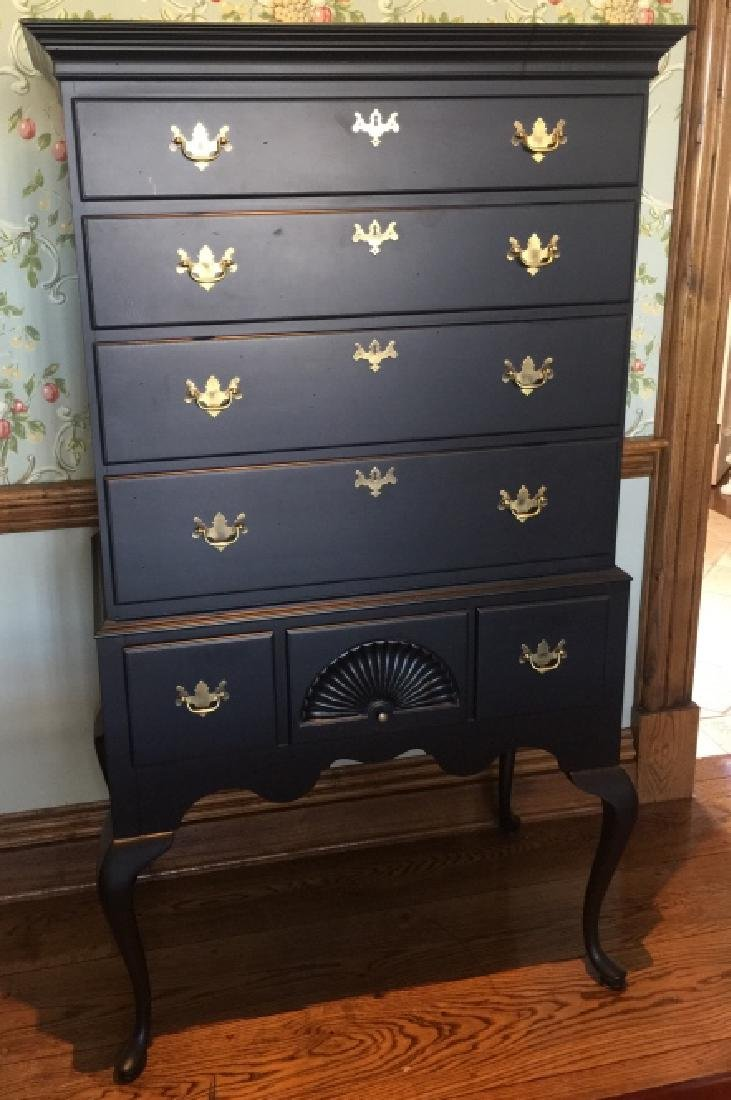 Early American Style High Boy Chest of Drawers
