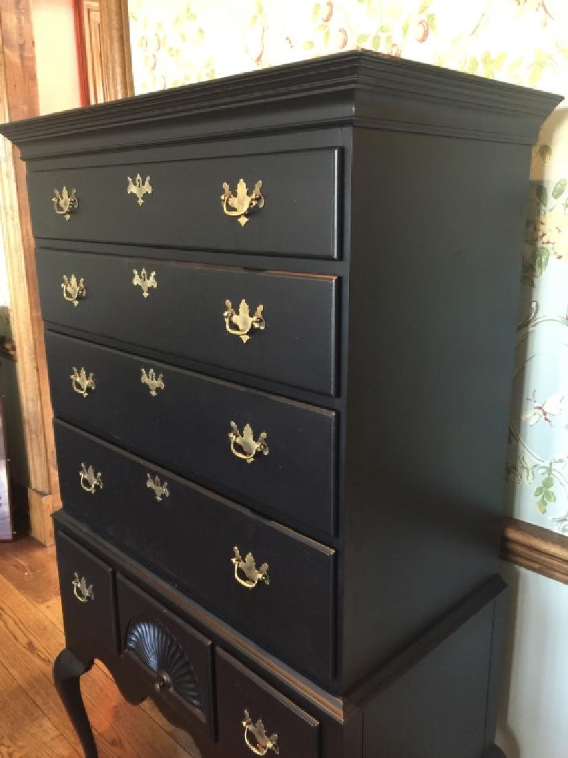 Early American Style High Boy Chest of Drawers - 4