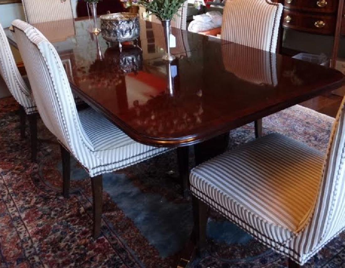 English Sheraton Double Pedestal Dining Table
