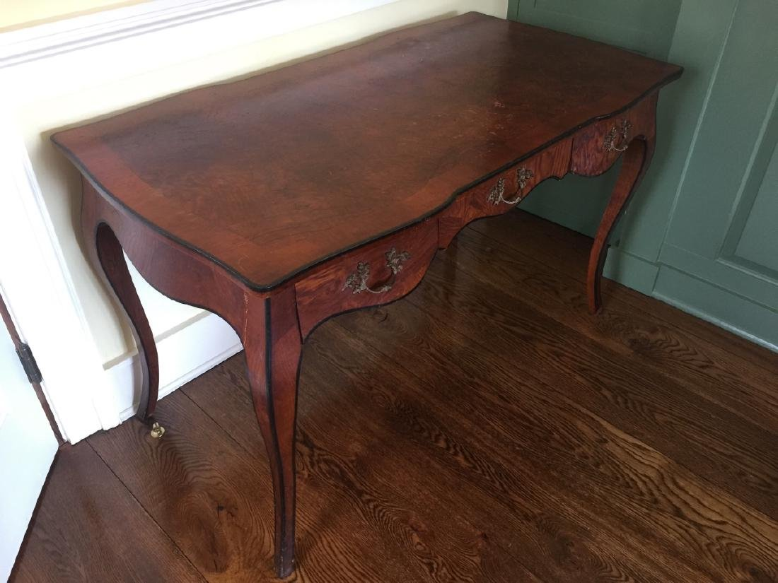 Antique French Rococo Style Burl Wood Desk - 3