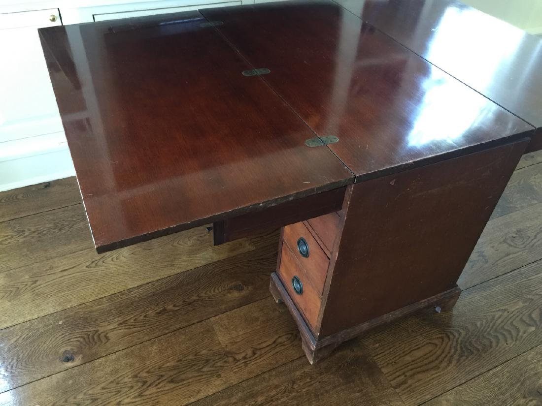 Antique Office Desk Convertible to Dining Table - 3