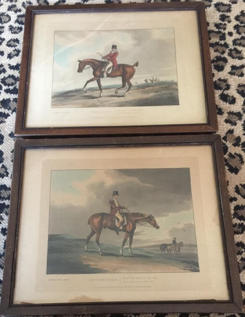 Pair of Framed Antique English Hunting Prints