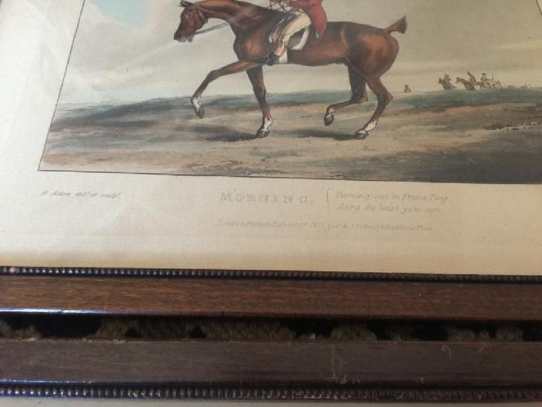 Pair of Framed Antique English Hunting Prints - 2