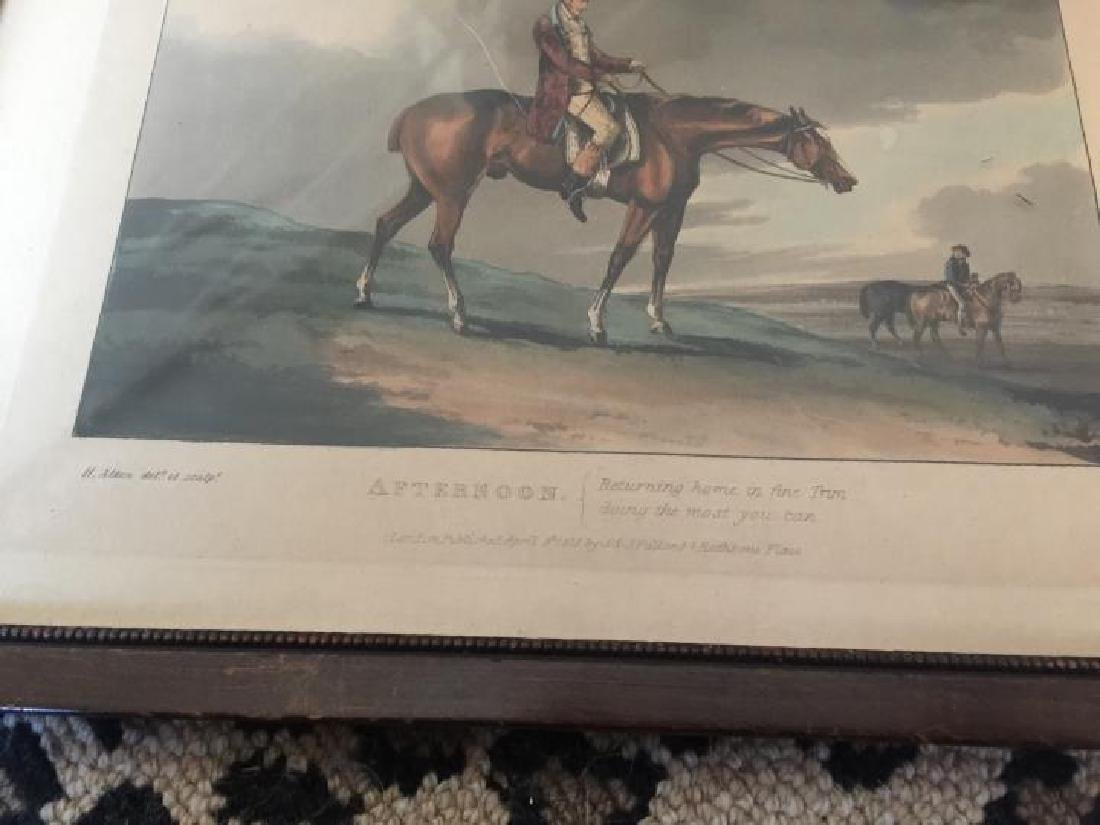 Pair of Framed Antique English Hunting Prints - 3