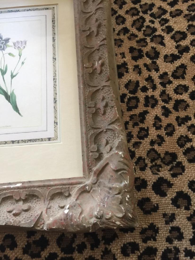 Floral Botanical Print in French Style Frame - 2