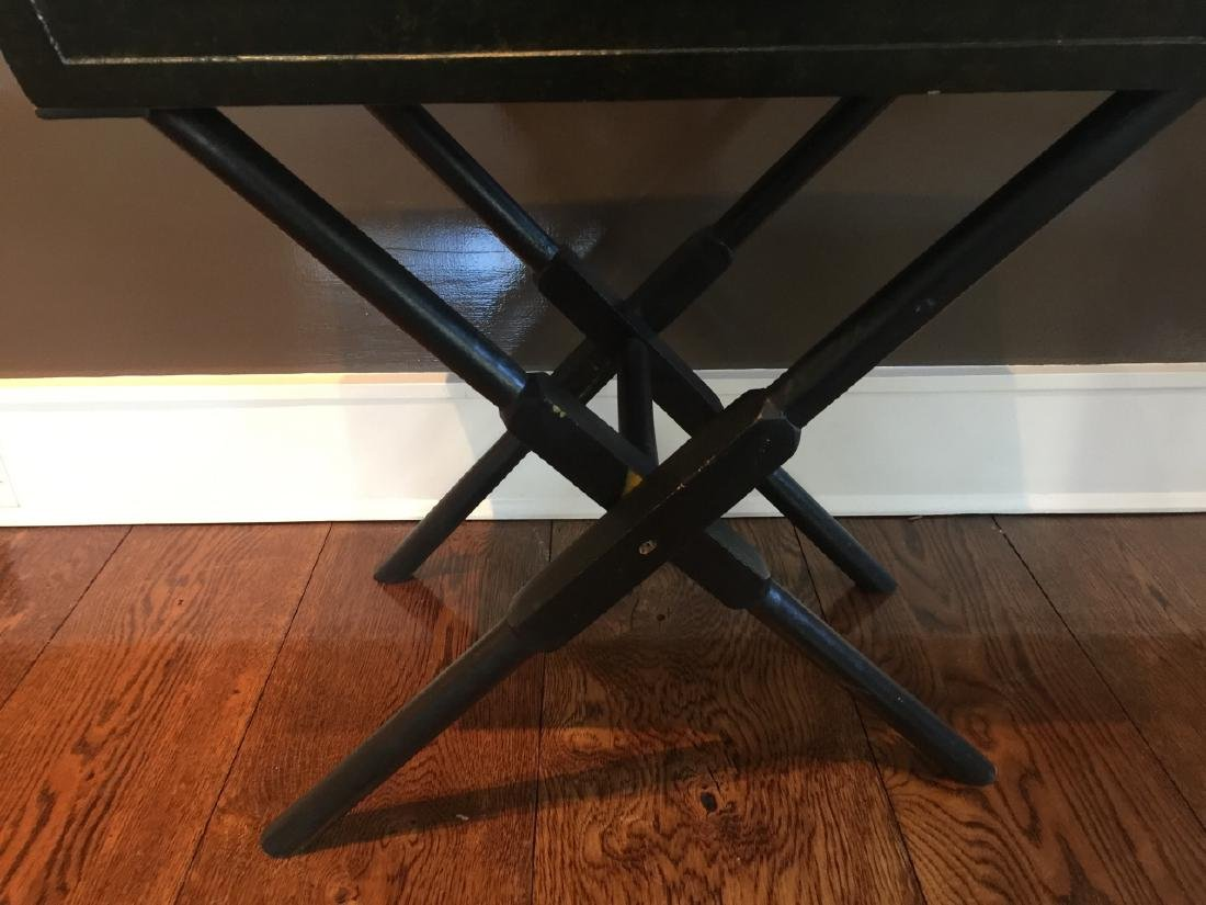 Portable Table - Folding Stand w Serving Tray - 3