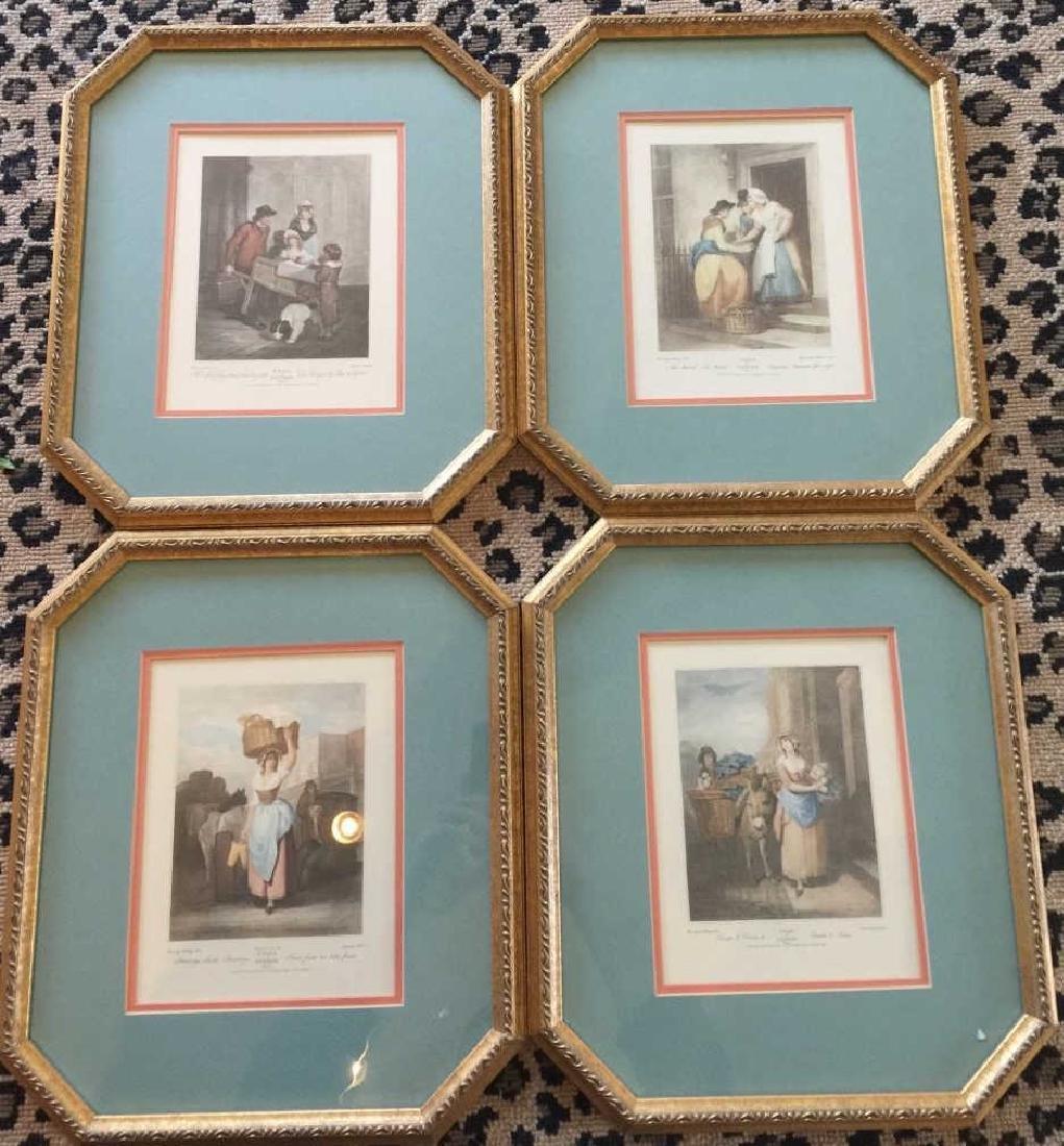 "Set of Framed Prints Titled ""Cries of London"""