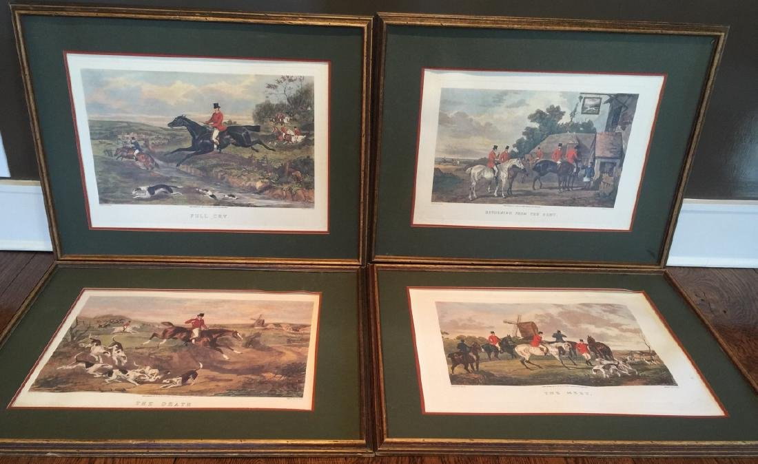 Group of Four Vintage English Hunting Prints