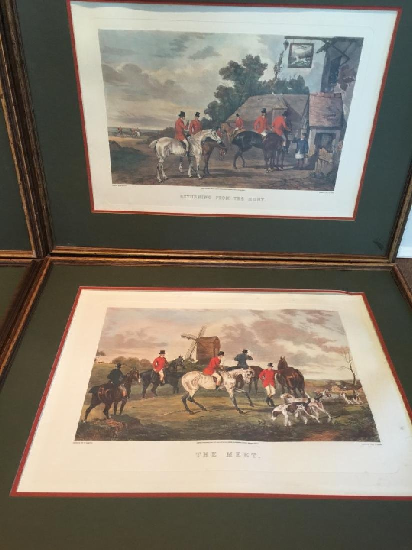 Group of Four Vintage English Hunting Prints - 3