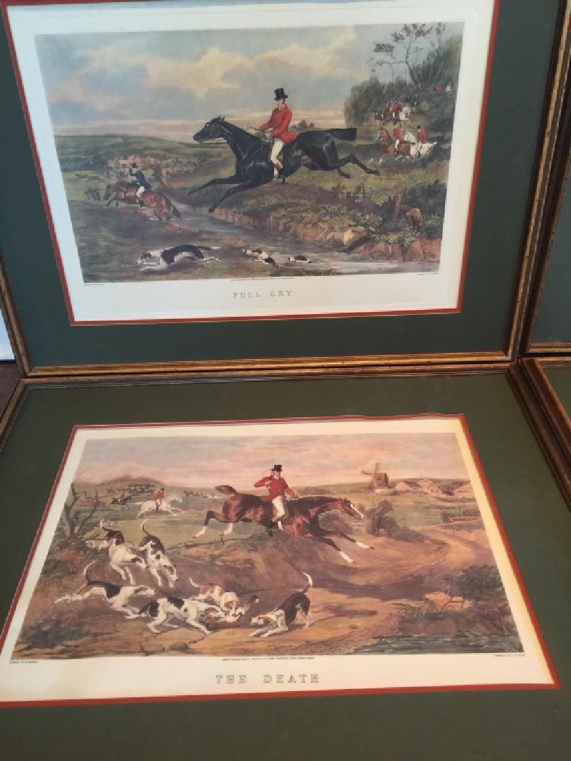 Group of Four Vintage English Hunting Prints - 4