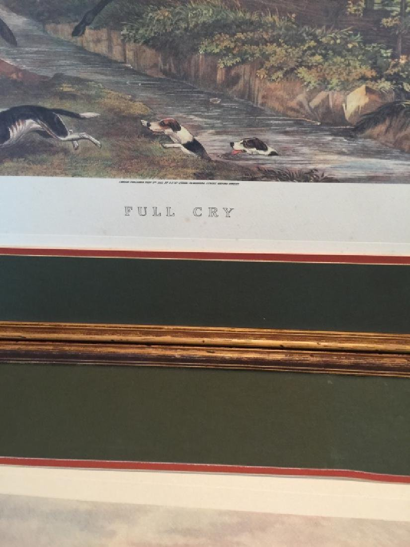 Group of Four Vintage English Hunting Prints - 7