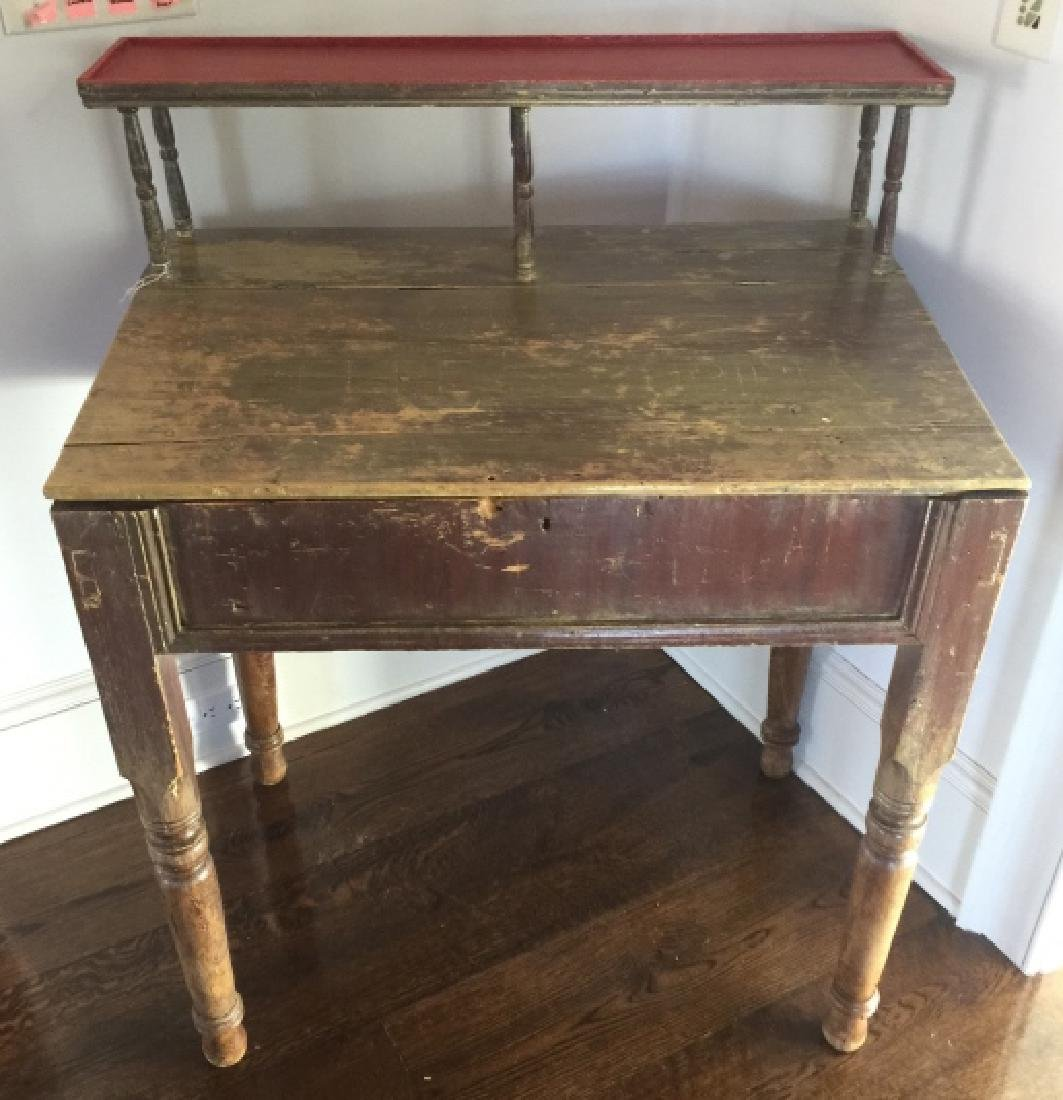 Antique 19th C Country American Slant Front Desk