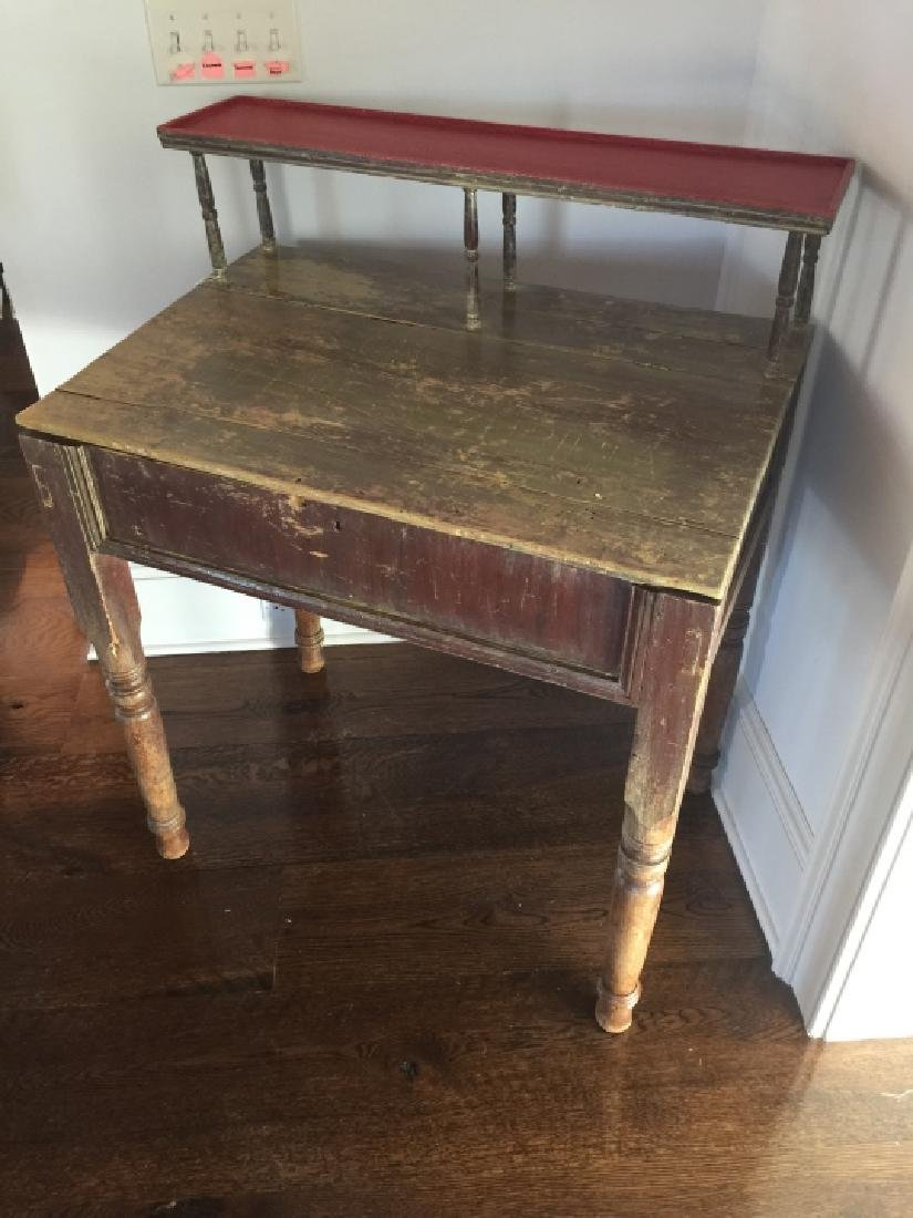 Antique 19th C Country American Slant Front Desk - 2