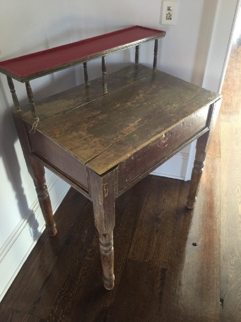 Antique 19th C Country American Slant Front Desk - 3