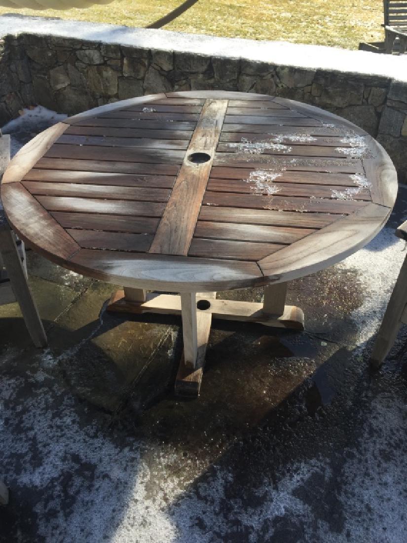 Smith Hawkin Teak Wood Round Dining Table - 2