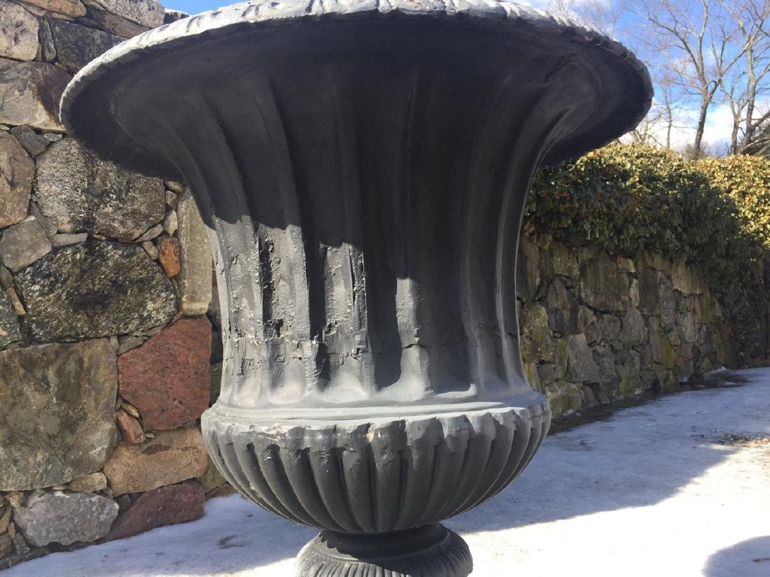 Large Neo Classical Style Cast Iron Garden Urn - 4