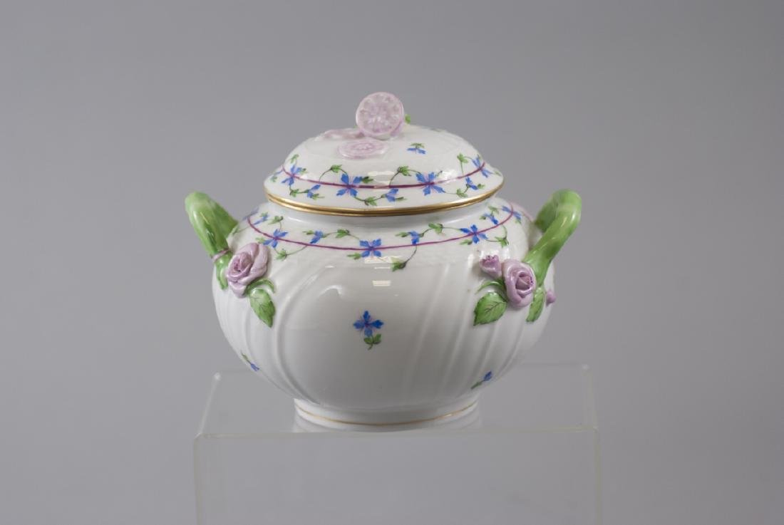 Herend of Hungary Porcelain Tureen w Flowers