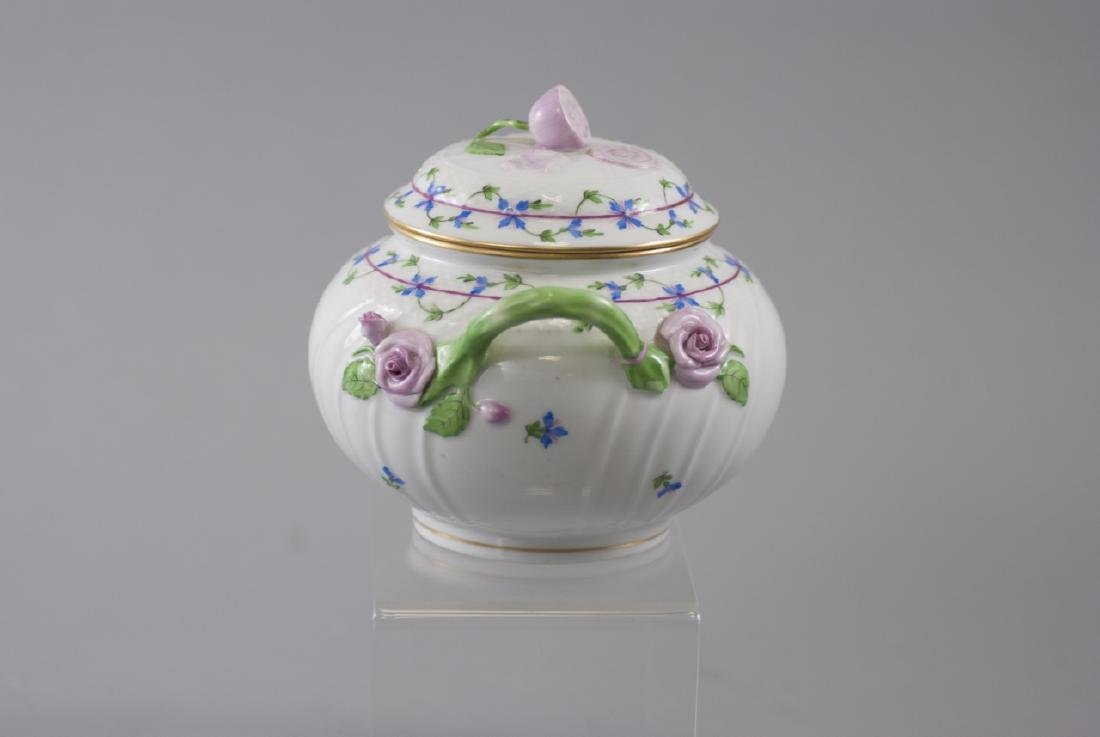 Herend of Hungary Porcelain Tureen w Flowers - 2