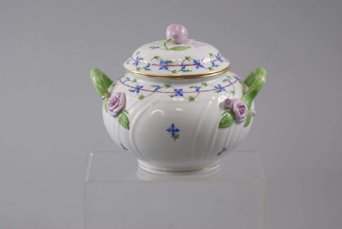 Herend of Hungary Porcelain Tureen w Flowers - 3
