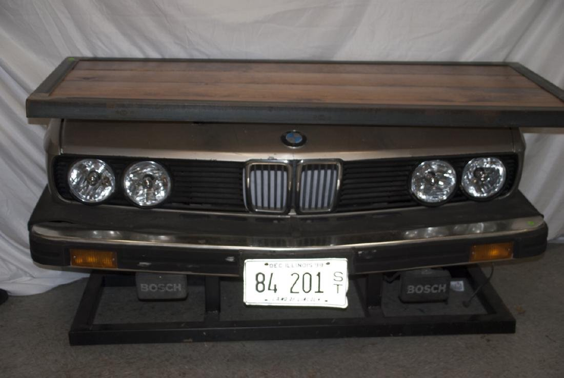 Custom Made Desk or Console Using BMW Car Hood