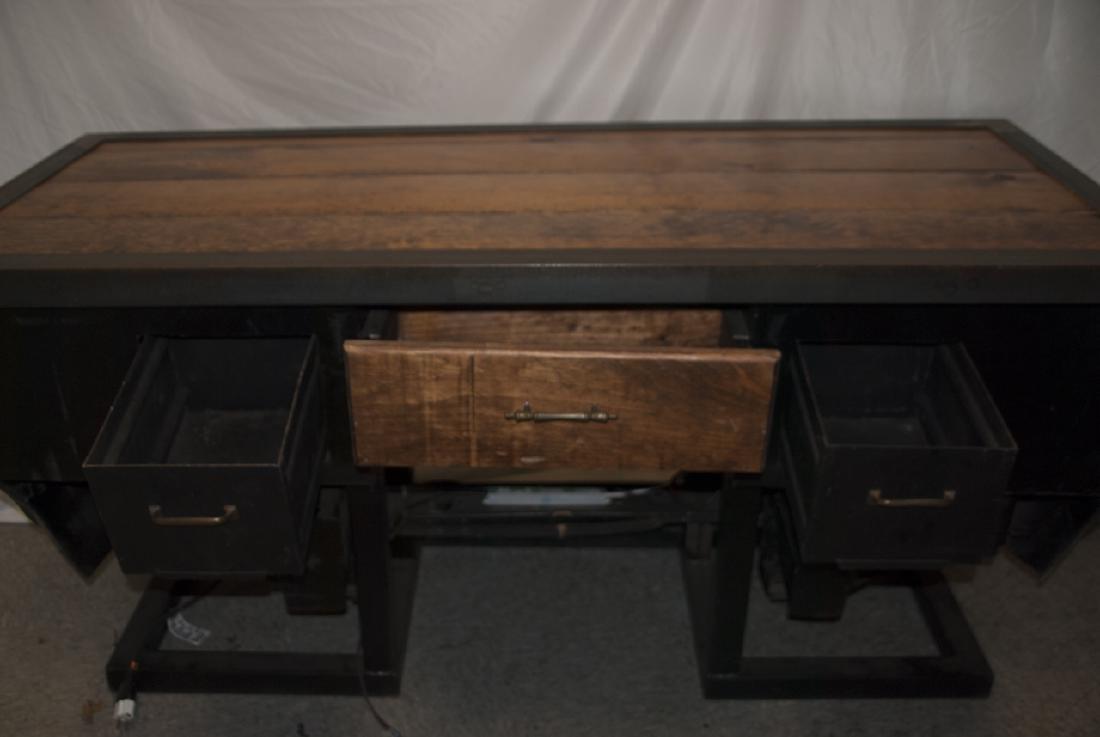 Custom Made Desk or Console Using BMW Car Hood - 2