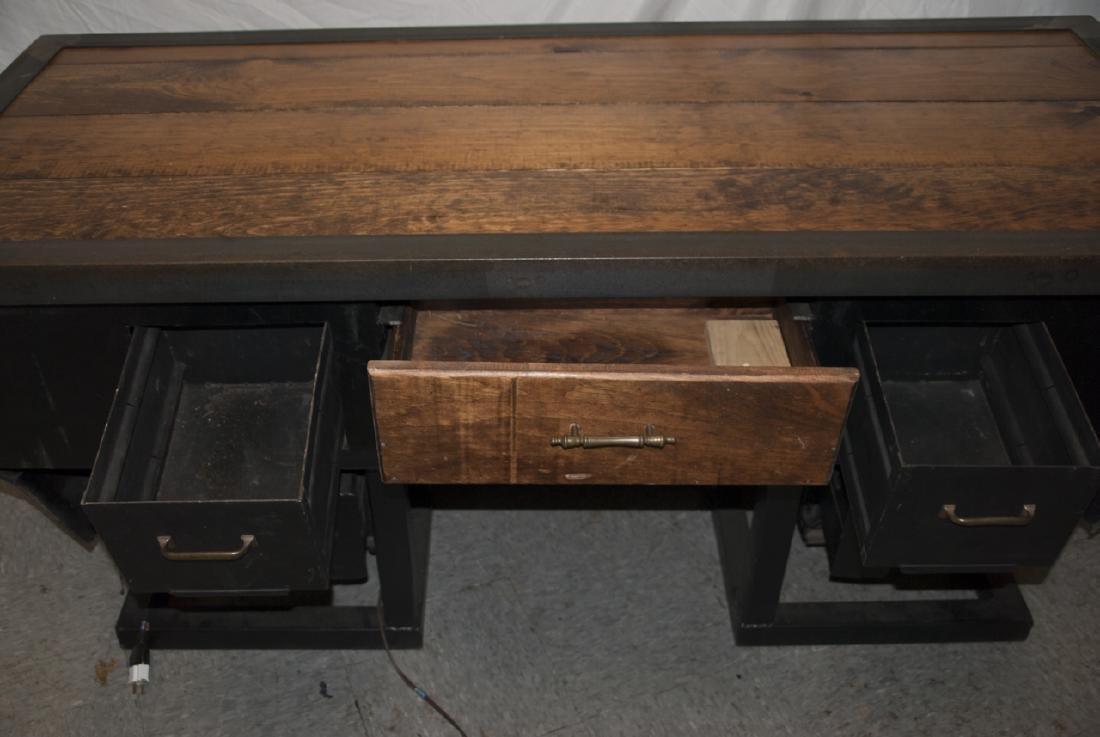 Custom Made Desk or Console Using BMW Car Hood - 3