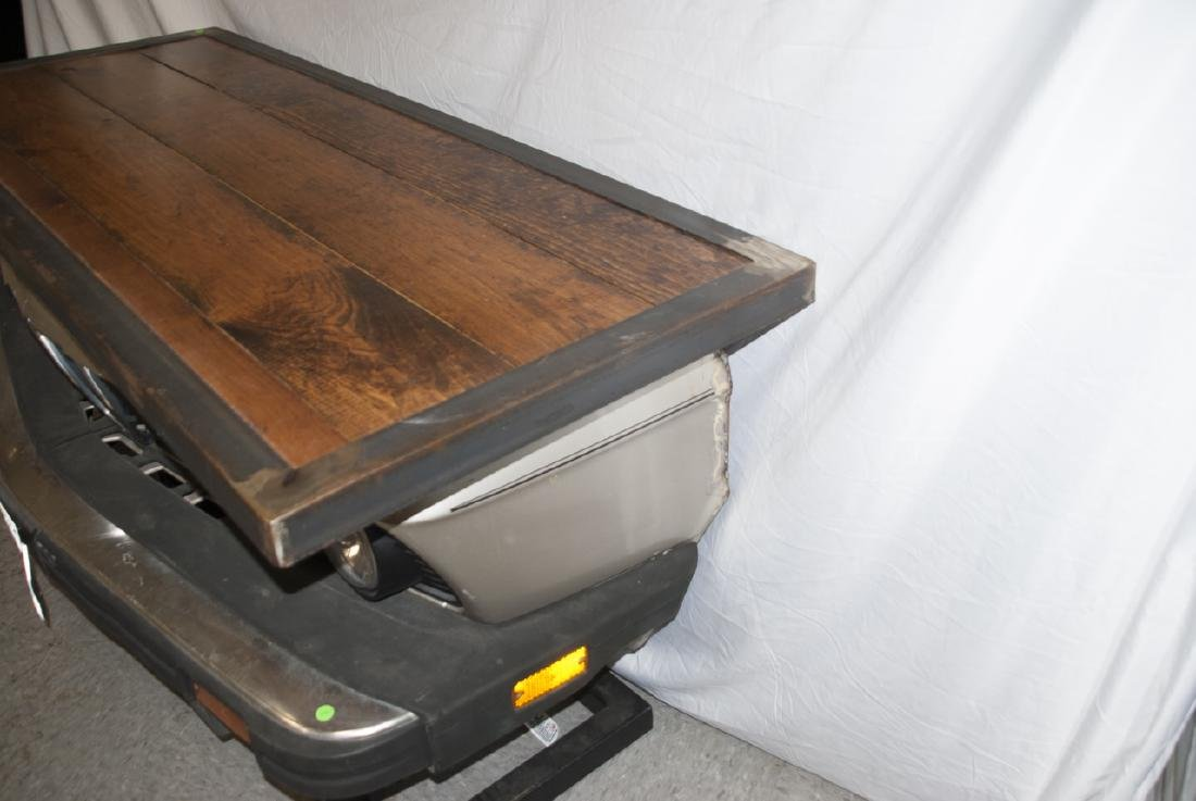 Custom Made Desk or Console Using BMW Car Hood - 5
