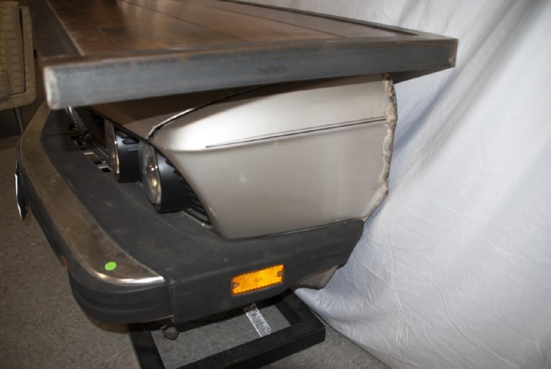 Custom Made Desk or Console Using BMW Car Hood - 6
