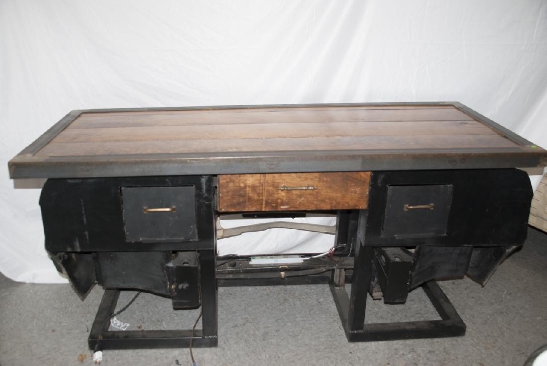 Custom Made Desk or Console Using BMW Car Hood - 7