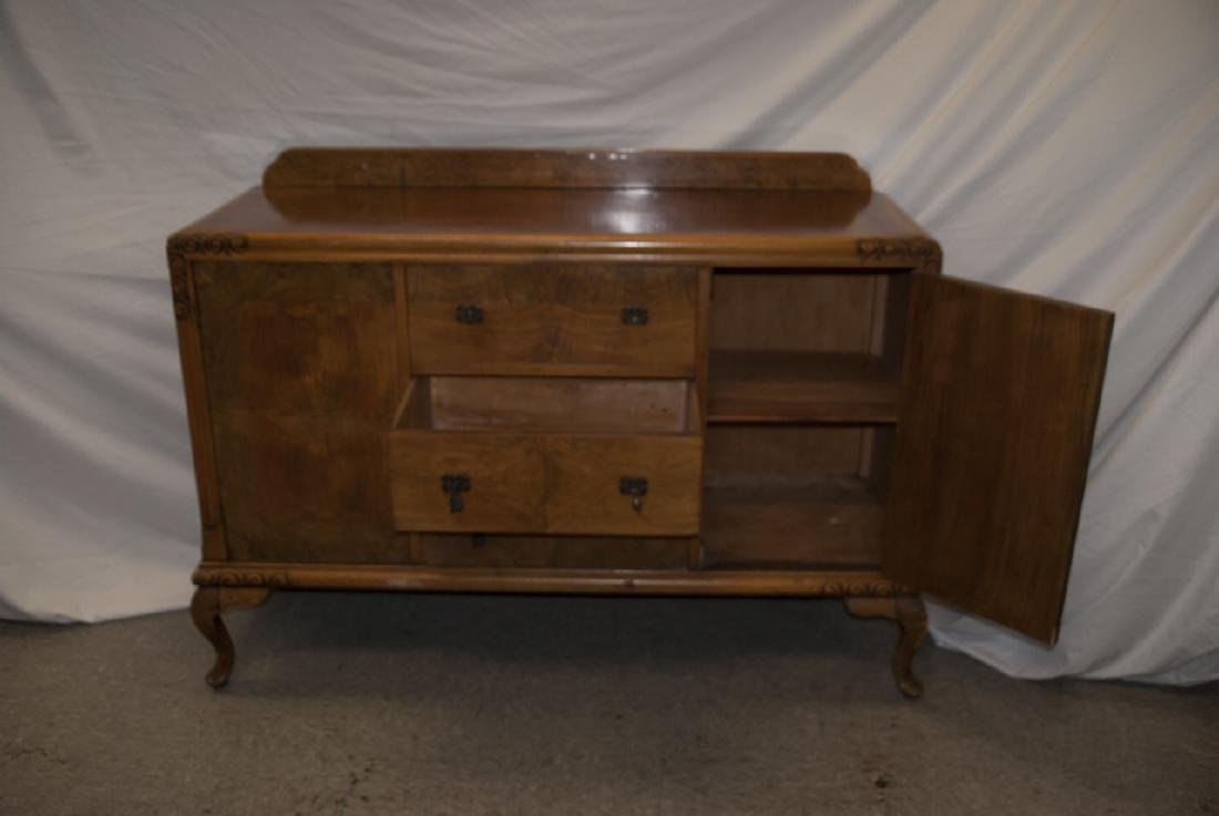 Transitional Art Deco Walnut Console Table Cabinet - 5