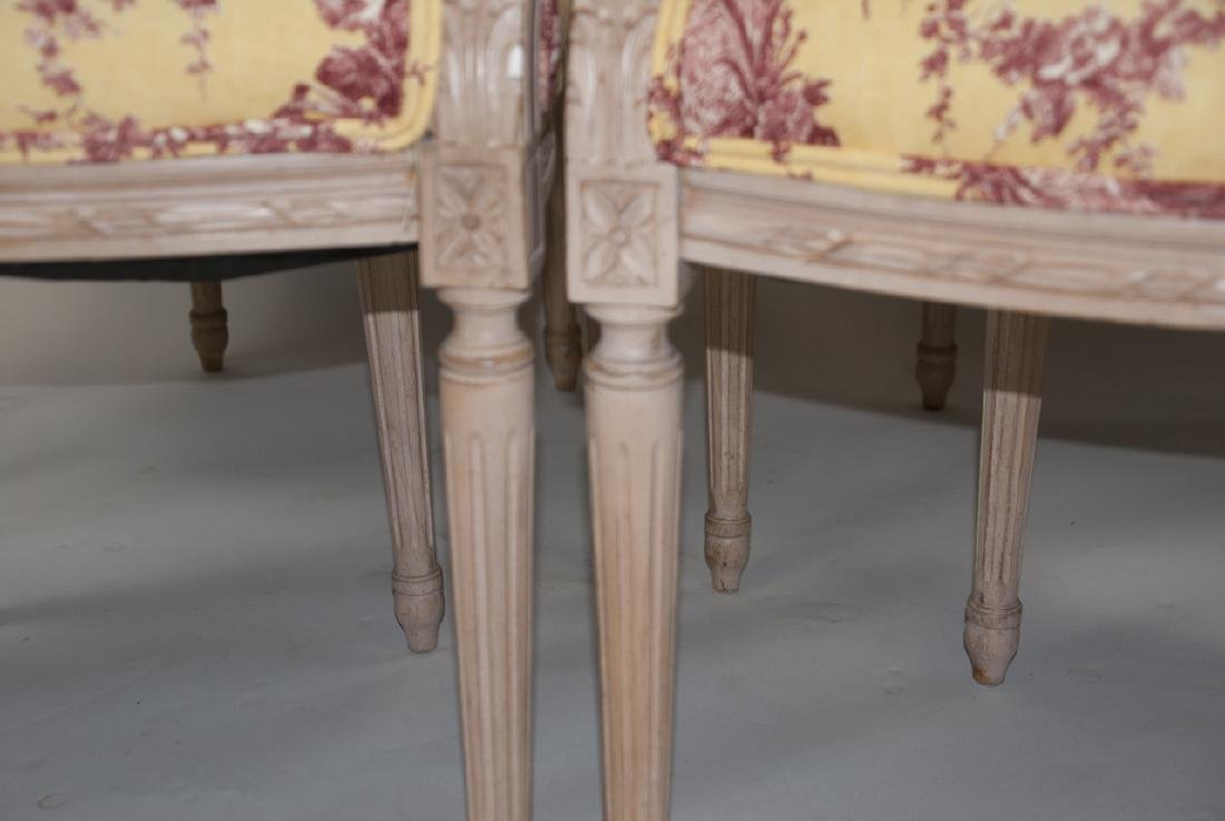 Four French Country Provencal Toile Armchairs - 2