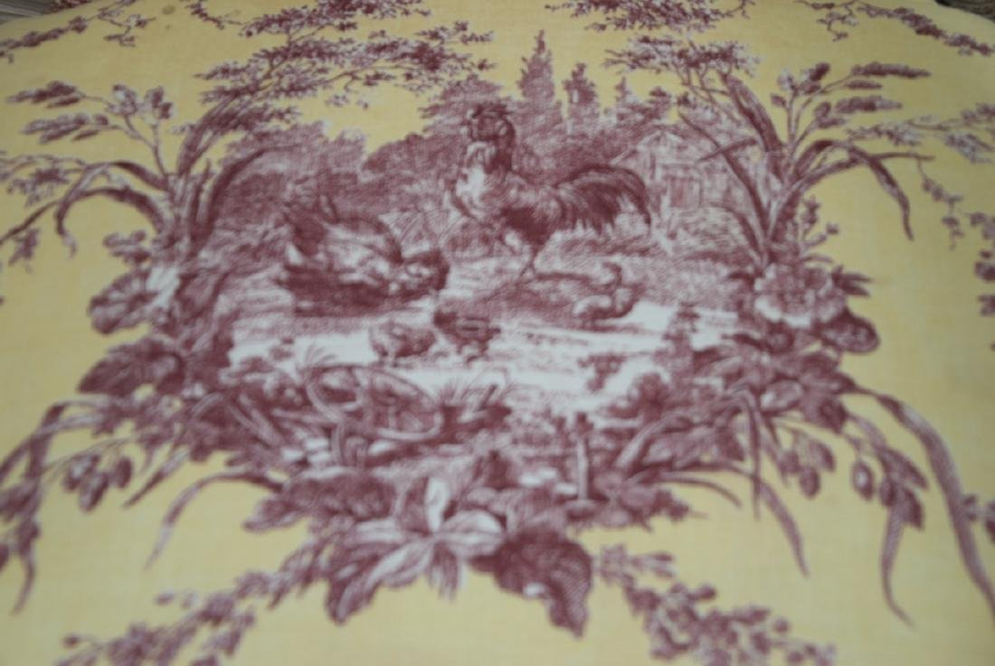 Four French Country Provencal Toile Armchairs - 3