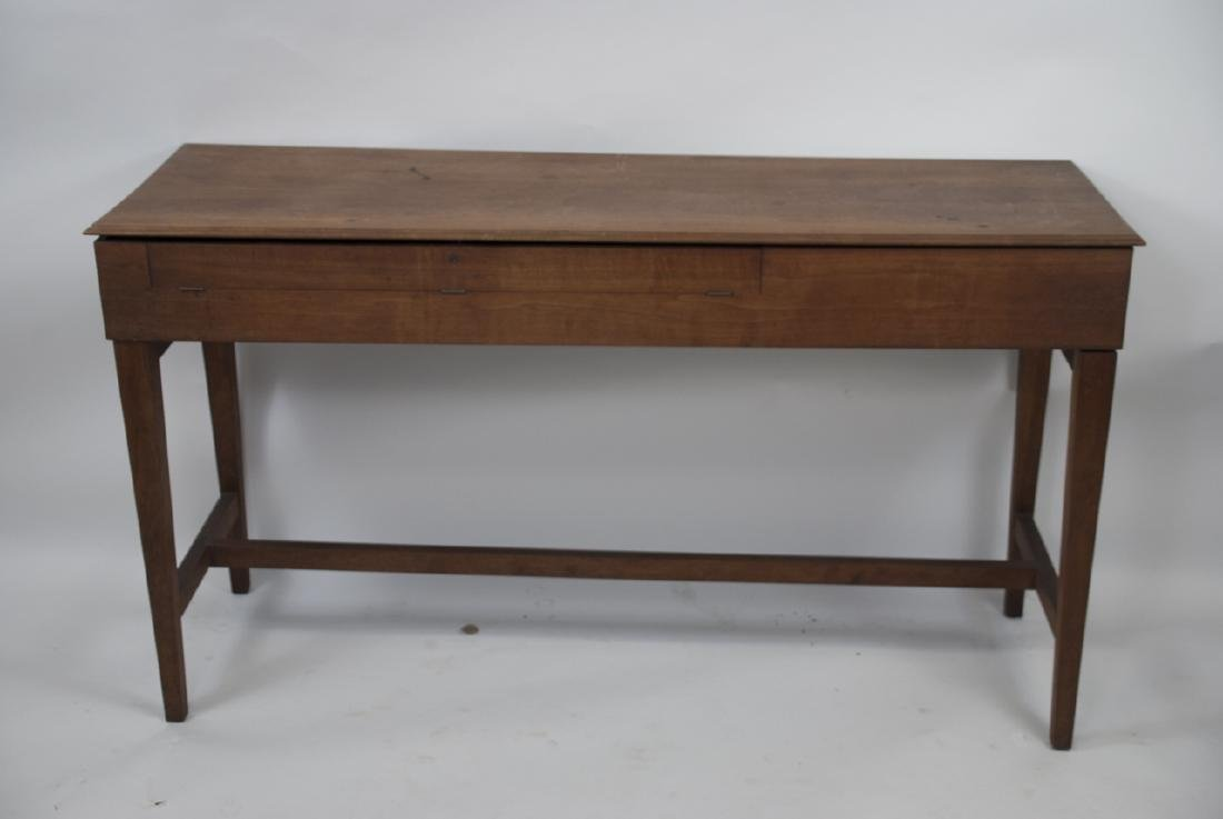Wooden Mid Century Harpsichord Console Table