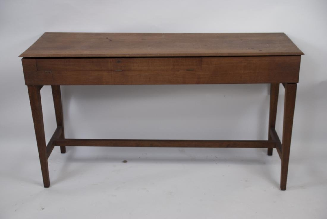 Wooden Mid Century Harpsichord Console Table - 4