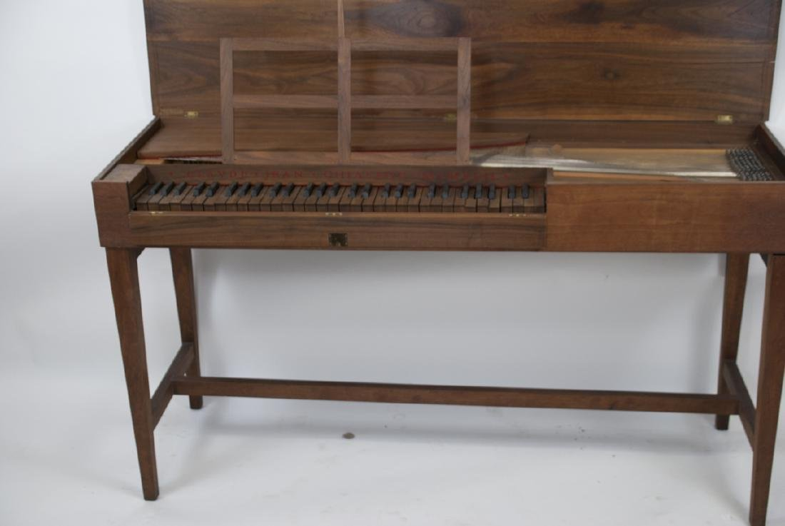 Wooden Mid Century Harpsichord Console Table - 5