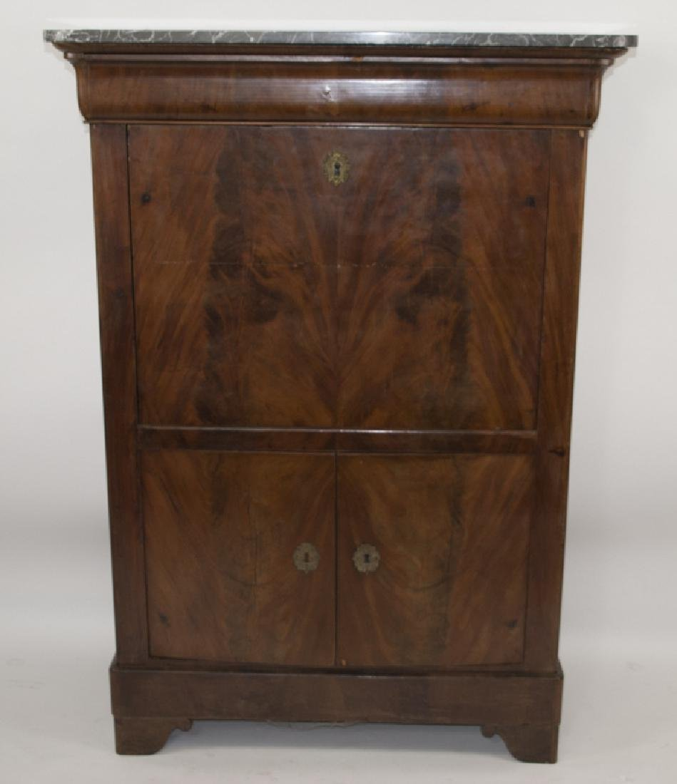 Antique Marble French Louis Philippe Style Desk