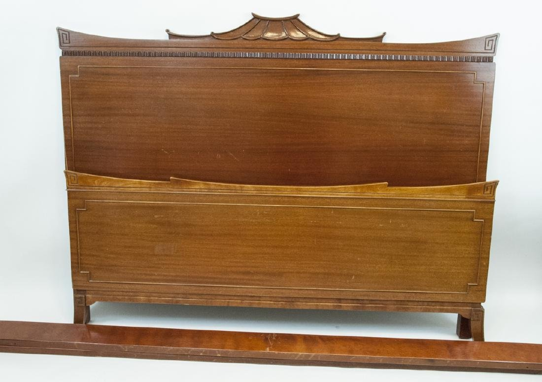 Vintage RWAY Chinese Chippendale Twin Bed