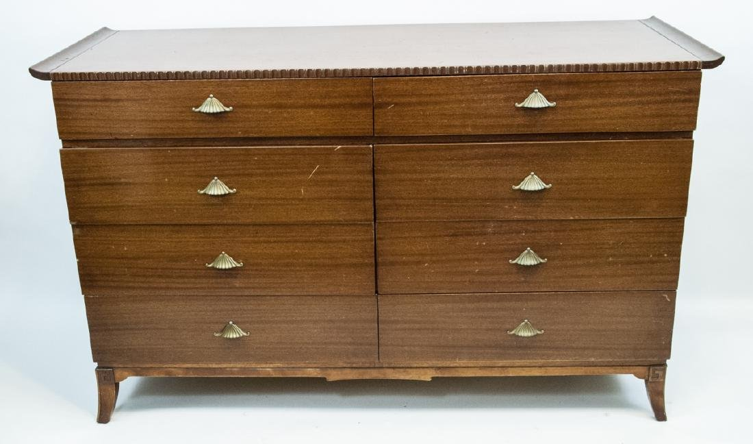 Vintage RWAY Furniture Dresser W/ Shell Motifs